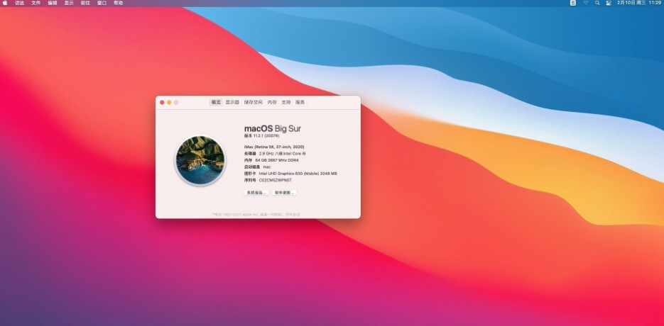macOS Big Sur 11.2 20D64 Installer for OpenCore 0.6.6 and CLOVER